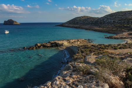 Exotic beaches - Xerocambos, Crete, Greece Stock Photo