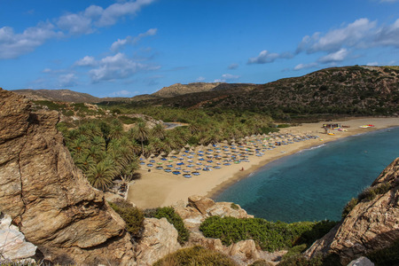 Landscapes - Exotic beaches - Vai palm grove, Crete, Greece