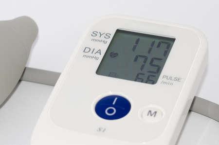 diastolic: Digital medical tonometer on a white background