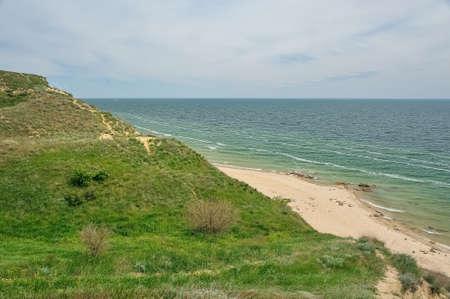 npp: The sandy beach of the Tsimlyansk reservoir