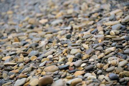 pebbles: Wet pebbles on the beach Stock Photo