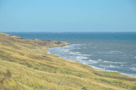 azov sea: The picturesque shore of the Azov sea on the Taman Peninsula Stock Photo