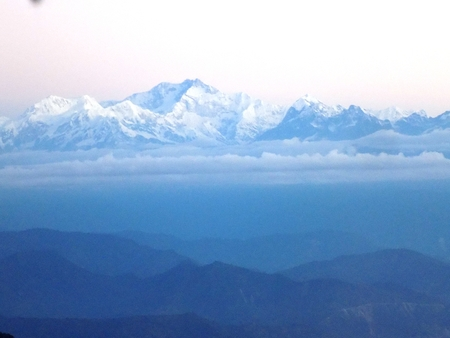 Kanchanjunga view from Darjeeling Stock Photo