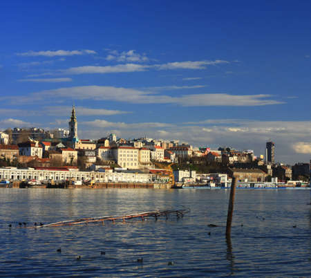 serbia landscape: Old Belgrade from the river Sava, big format