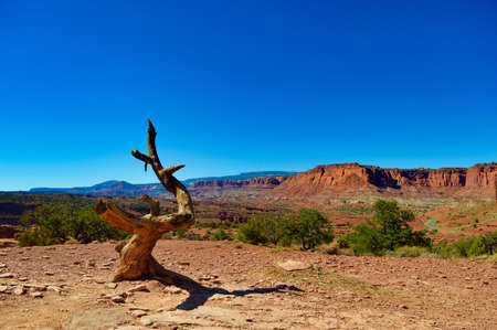 Beautiful views at Capitol Reef National Park Stock Photo