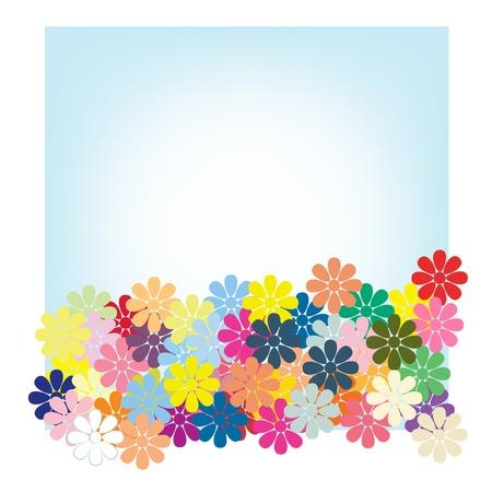 flower cards blue Stock Vector - 16921220