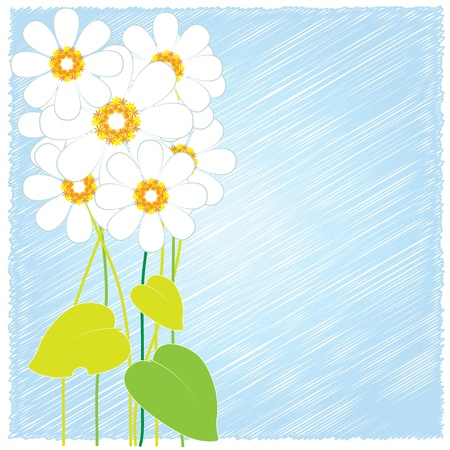 flower cards blue Vector
