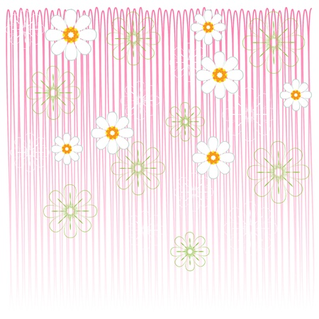 flower cards pink Stock Vector - 16930293