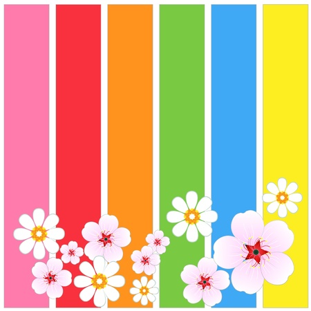 Flowers Background vivid Vector