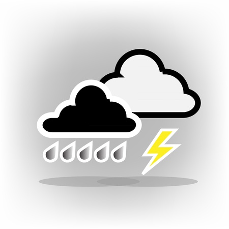 cumulus cloud: Icons Weather Storm