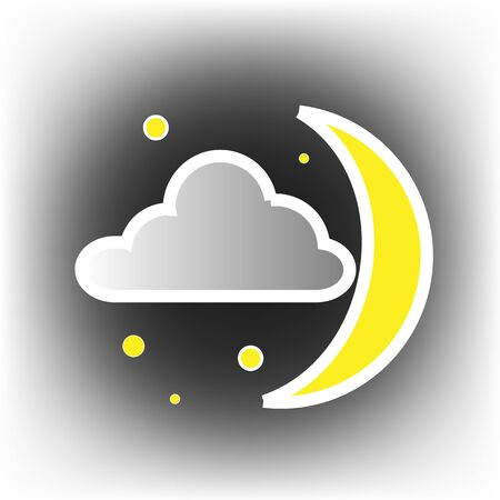 Icons Weather Night Stock Vector - 16951958