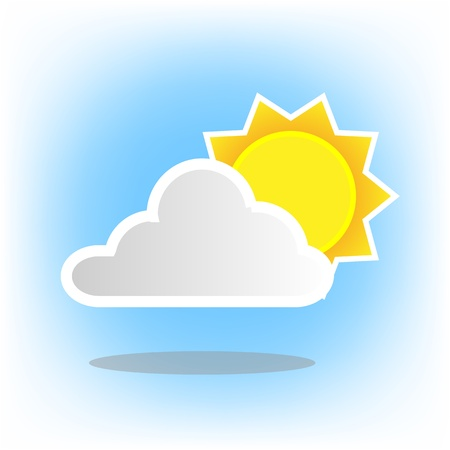 Icons Weather sun Vector