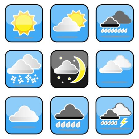 Icons Weather Collection Stock Vector - 16951927