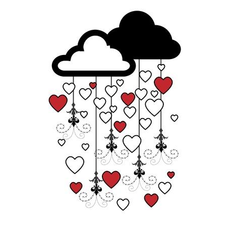 storm cloud: valentine ideas Illustration