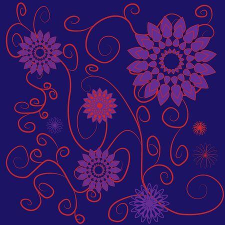 flower cards 01 Stock Vector - 17240436