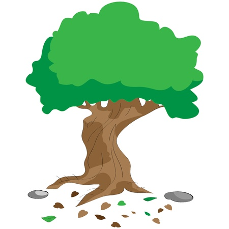 clip art draw: tree