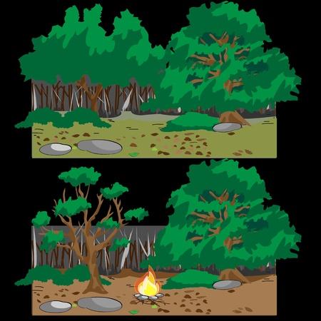 forestforest campfire Stock Vector - 17455714