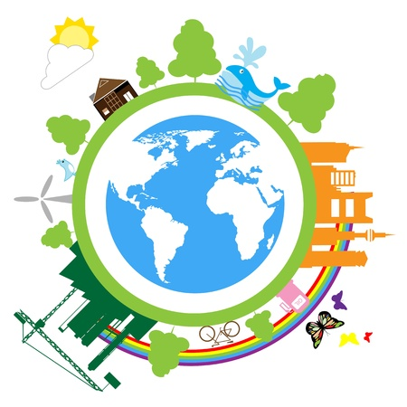 save earth color Vector