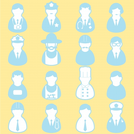 job icon set Vector