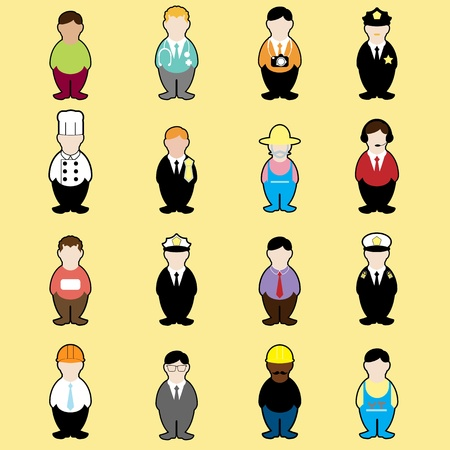jobs set Stock Vector - 18095183