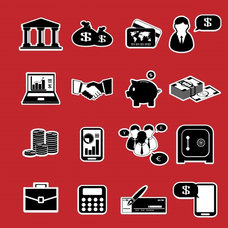Finance & banking icons set. Vector