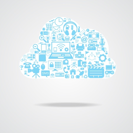 cloud network icons Stock Vector - 21324136
