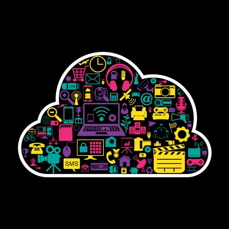 cloud network icons Stock Vector - 21324973