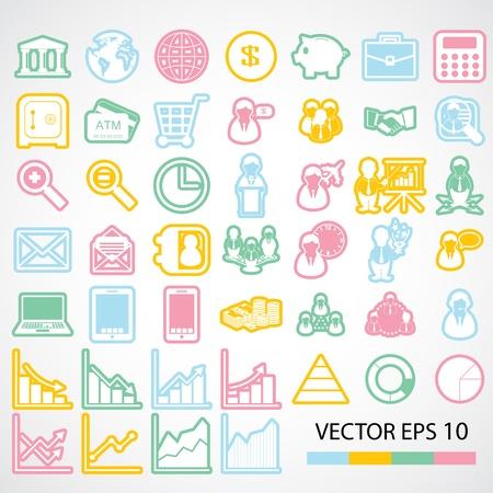 financial icon Stock Vector - 21324888