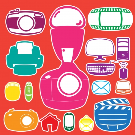 icon fat collection Stock Vector - 21324749