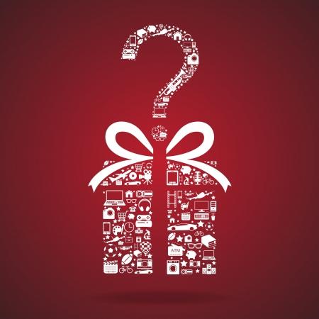caja navidad: caja de regalo y el icono Vectores