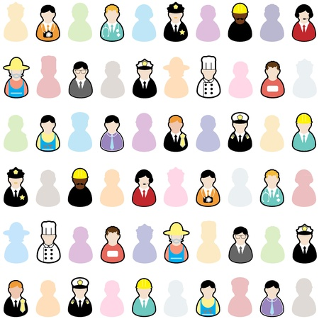 People jobs set Vector
