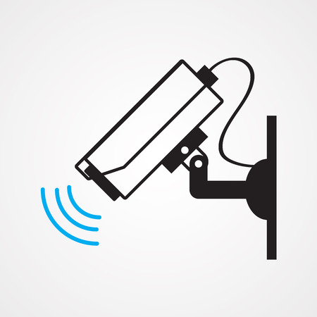 surveillance symbol: camera cctv Illustration
