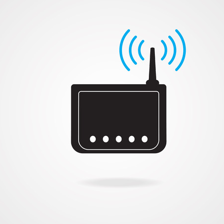 hub: wireless modem Illustration