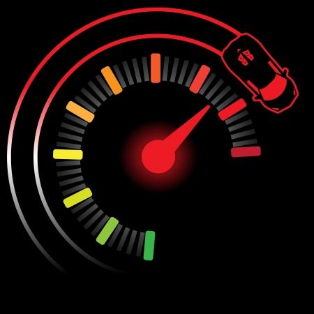 velocímetro: millas turbo, Ilustración EPS 10