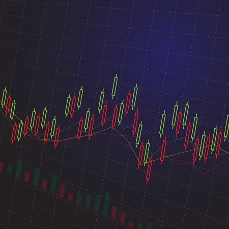 investor: Stock chart backgrounds ,Illustration