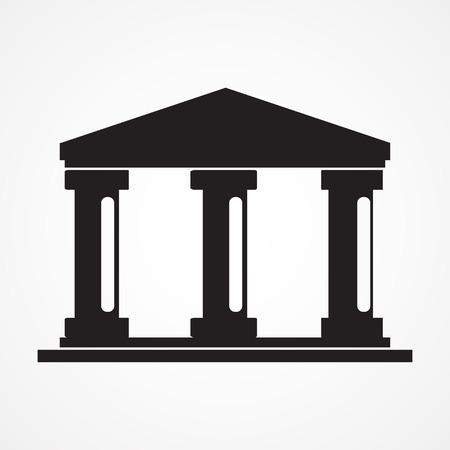 bank building: bank icon ,Illustration eps 10 Illustration