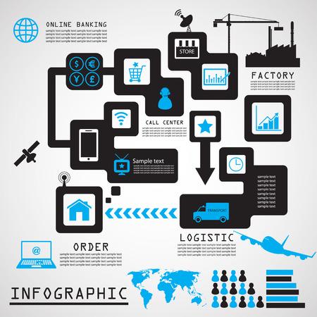 direct sale: Direct sale infographics design ,Illustration  Illustration