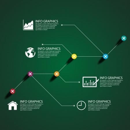 Business chart success Illustration