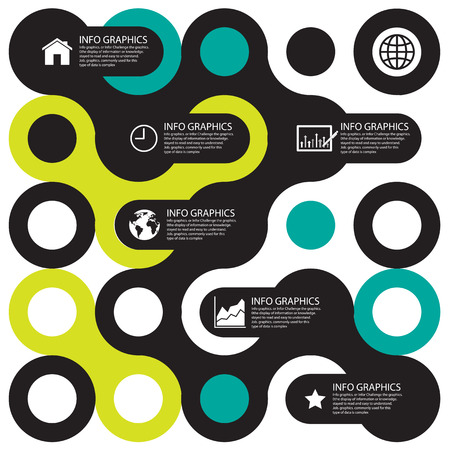 Circle business concepts connection with icons    Illustration