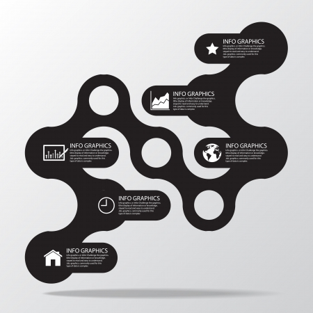 Circle business concepts connection with icons  Illustration  Illustration