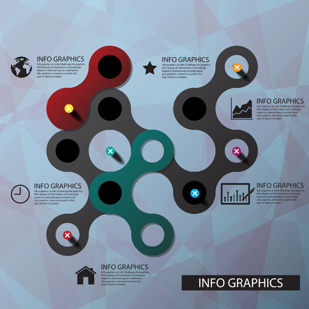 peg: Vector circle business concepts connection with icons Illustration  Illustration