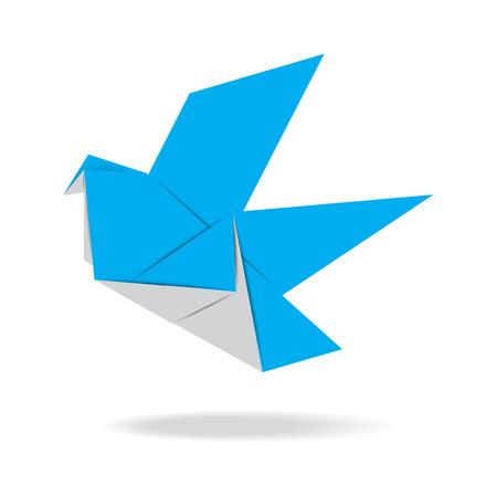 origami oiseau: Origami oiseau Illustration