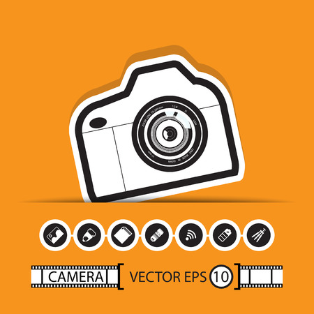 camera gadget set  Stock Vector - 22446763