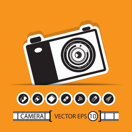 gadget: appareil photo jeu de gadget Illustration