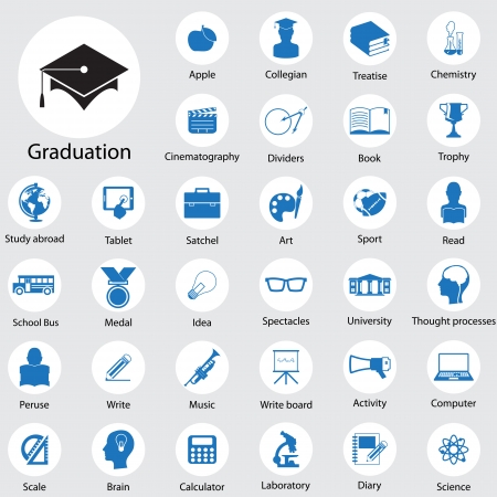 Education icons mis en