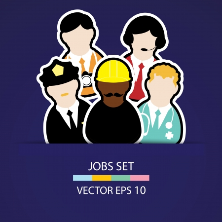 the people job set Vector