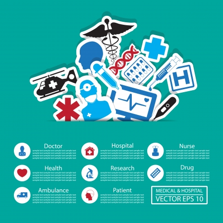 Medical icons ,Illustration eps 10 Vector