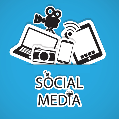 social media, communication in the global computer networks Vector