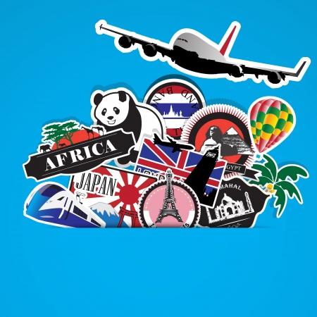 travel,Illustration eps 10 Stock Vector - 22446793