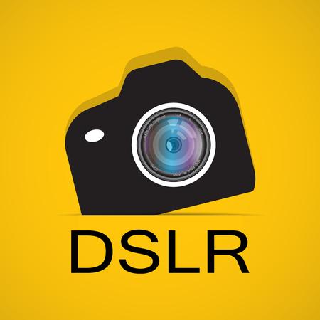 dslr: camera and Video icons set ,Illustration